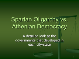 Spartan Oligarchy vs. Athenian Democracy