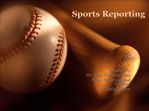 Chapter 16: Sports Reporting