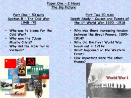 Cuban Missile Crisis Power Point