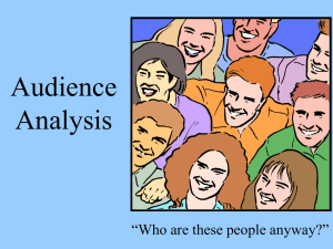 Audience Analysis - Business Communication Network