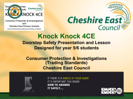 Knock Knock, Who`s There Schools Campaign