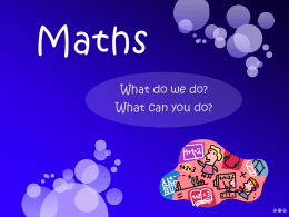 Maths - Orleans Primary School