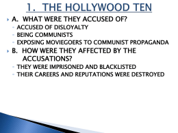 1. THE HOLLYWOOD TEN
