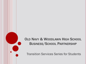 Old Navy and Woodlawn Highschool Partnership