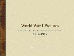 World War I Pictures
