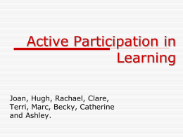 A1 Active Participation in Learning