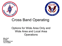 Cross Band Operating