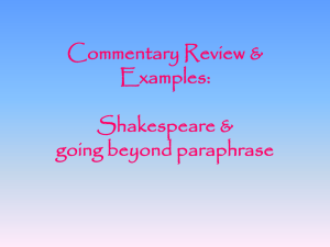 Commentary Review & Examples