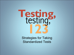 Item Sampler TCAP Test Taking Tips PPT 1st Semester Exam Study