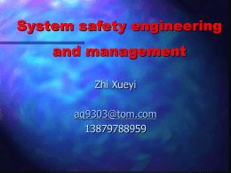 System Safety Overview