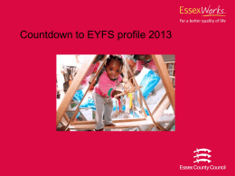 Countdown to EYFS profile 2013 presentation