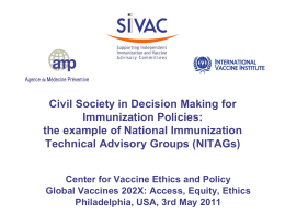 NITAG Resource Center - Global Vaccines 202X