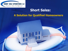 best alternative to a foreclosure - Mark Greene: From the Short Sale