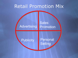 Intro to Sales Promotion