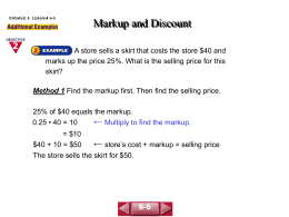 Markup and Discount(6