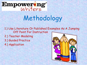 Empowering Writers` Model