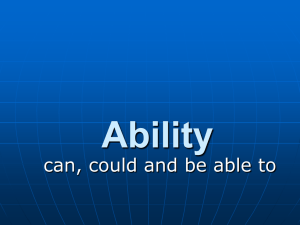 BE ABLE TO - English 4 All
