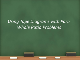 NEW Part-Whole Tape Diagrams Lesson from 1-26