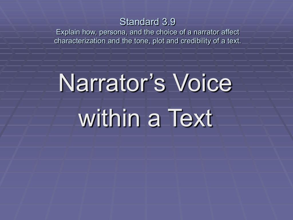 Narrator Voice copy