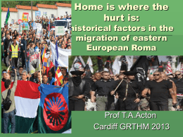 historical factors in the migration of eastern European Roma