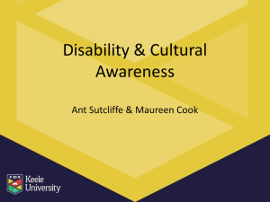 Disability and Cultural Awareness
