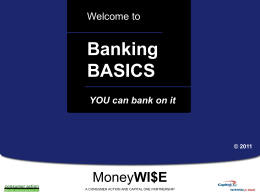 Banking Basics - PowerPoint Training Slides