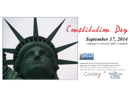 Constitution Day LessonPowerPoint - ACLU of San Diego & Imperial