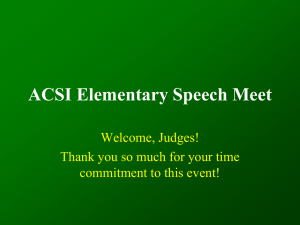 ACSI Elementary Speech Meet