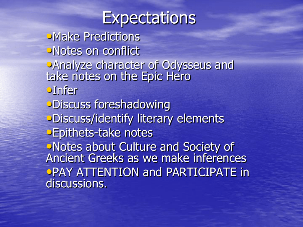 expectations pesickaenglish