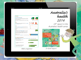 Australia`s health 2014: in brief PPT presentation