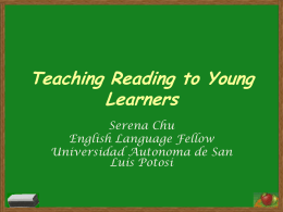Teaching Reading to Young Learners - centrodeidiomas