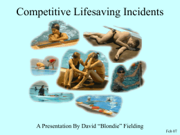 Competitive Lifesaving Incidents
