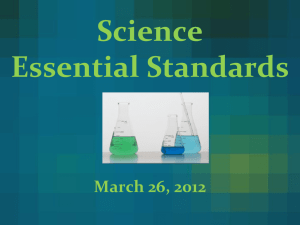 Science Team Essential Standards PowerPoint Third Grade