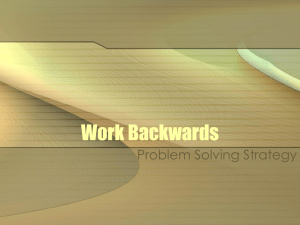 Work Backwards Strategy