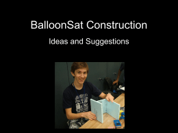 BalloonSat Construction