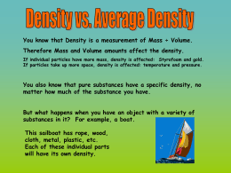 Your AVERAGE DENSITY. - thomasgreenwaymiddleschool