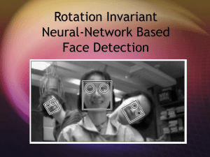 Rotation Invariant Neural-Network Based Face Detection