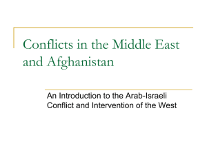 Intro to Middle East Conflict
