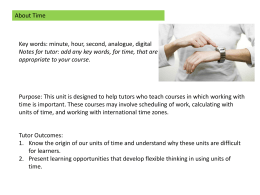Time unit - National Centre of Literacy and Numeracy for Adults