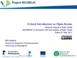 Critical Introduction to Open Access