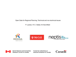 Open Data for Regional Planning - Regional Planning for Growth