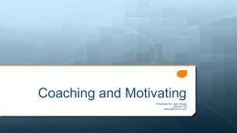 Coaching & Motivating Presentation