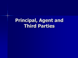 Principal, Agent and Third Parties