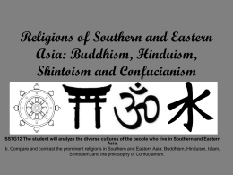 Religions of Southern and Eastern Asia: Buddhism, Hinduism