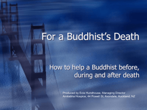 For a Buddhist`s Death
