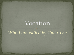 Vocation - Diocese of Lansing