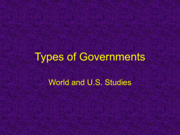 Forms of Govt powerpoint