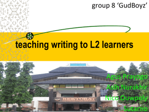 teaching writing to L2 learners
