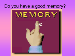 Modules 26-30 - Memory PowerPoint