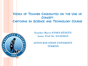 Views of Teacher Candidates on the Use of